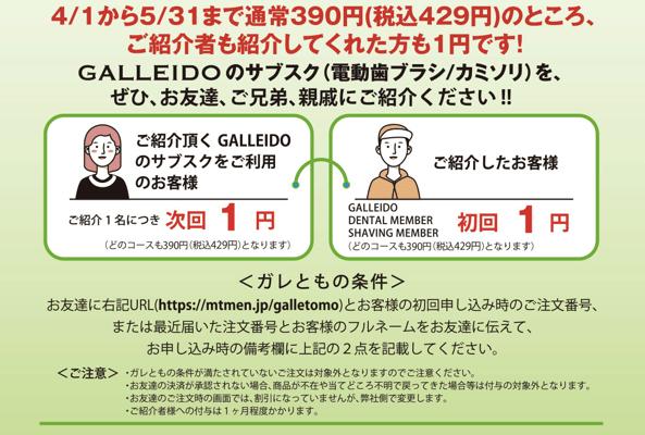 GALLEIDO紹介キャンペーン2